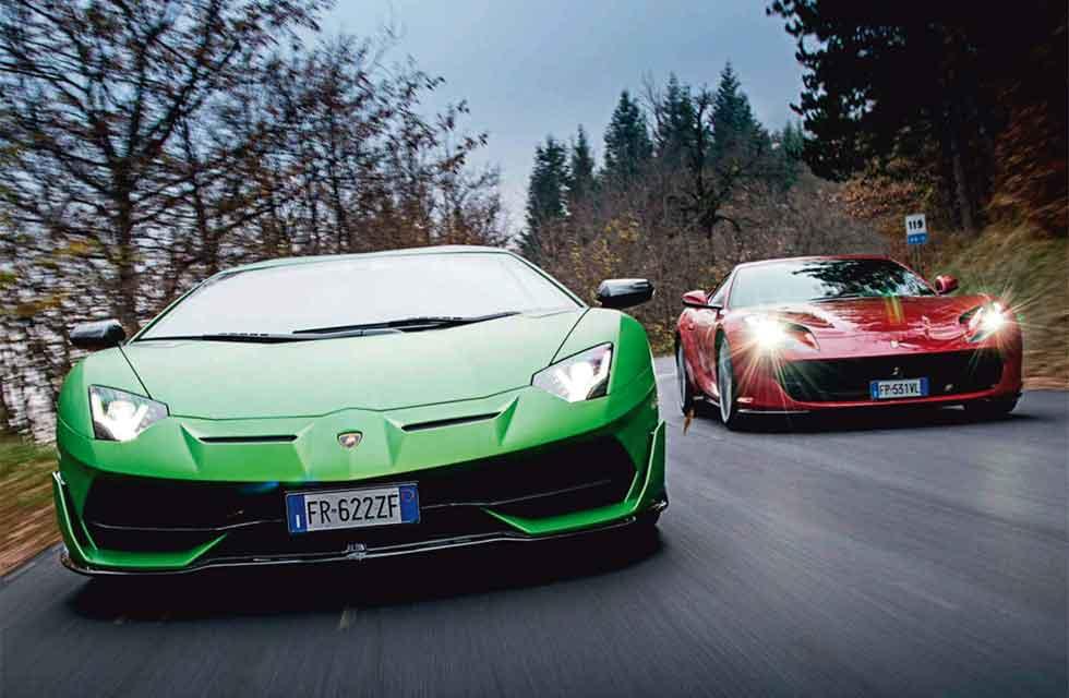 V12 free breathers Lamborghini's track-spec Aventador SVJ vs. Ferrari's sublime 812 Superfast