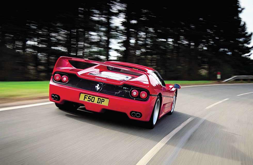 1995 Ferrari F50 road test