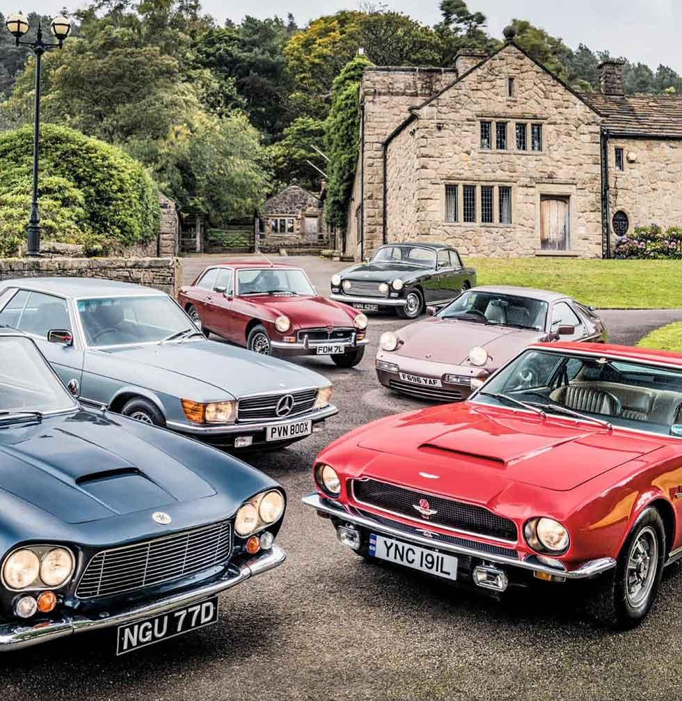 1967 Bristol 410 vs. 1988 Porsche 928 S4, 1975 MGB GT V8, 1981 Mercedes-Benz 380SLC C107, 1973 Aston Martin V8 and 1966 Gordon Keeble GK1 - comparison V8 coupe Grand Touring road test