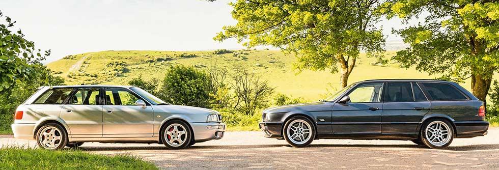 Audi RS2 Avant 8C vs. BMW M5 Touring E34 - comparison road test