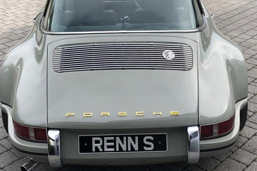 Rennsport 911 Evolution 73 Targa RSR - similar new builds available starting from £120,000  Originating from a 1976 911 Targa and finished in correct period colour code Mode Grau   Late 3.2 Carrera engine and G50 5 speed gearbox fitted completely rebuilt to Rennsport blueprint specification running  Bosch Motronic fuel injection stainless steel performance exhaust system Built onto a very late G50 fully galvanised body shell all steel front and rear arches Full 930 Turbo brake system fitted with genuine aluminium 4 pot callipers Short Anti Squat RSR aluminium rear trailing arms  Updated 930 Turbo torsion bars and anti-roll bars Fully insulated interior trimmed in one off hand woven lamb leather with Alcantara This car has just been completed at Rennsport and is available U.K registered Tax Exempt and MOT Exempt will come with 12 Month warranty  Full Rennsport back-up service available