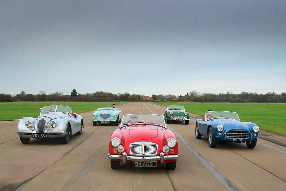 Healey 100, Jaguar XK, MGA, AC Ace or TR3