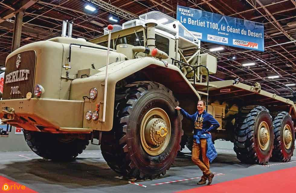 2.2m-high tyres of the Berliet were impressive