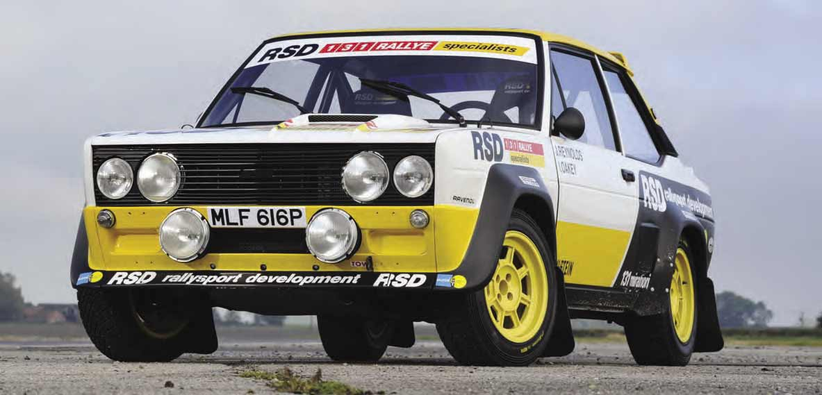 Fiat 131 Group 4 New build rally car track test