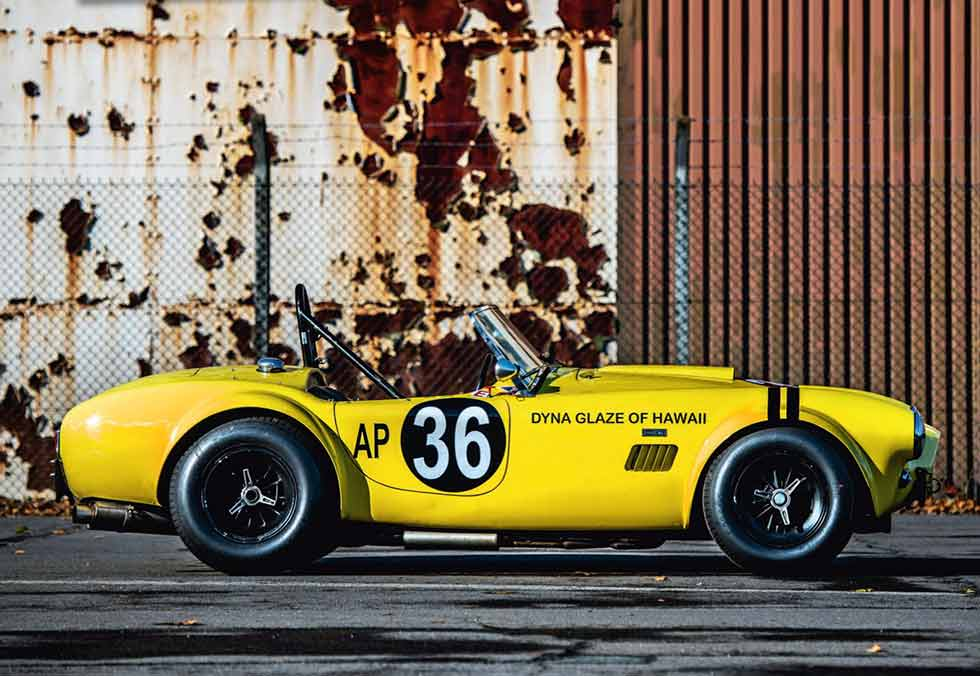 "1963 AC Cobra ""The Hairy Canary"" - track test"
