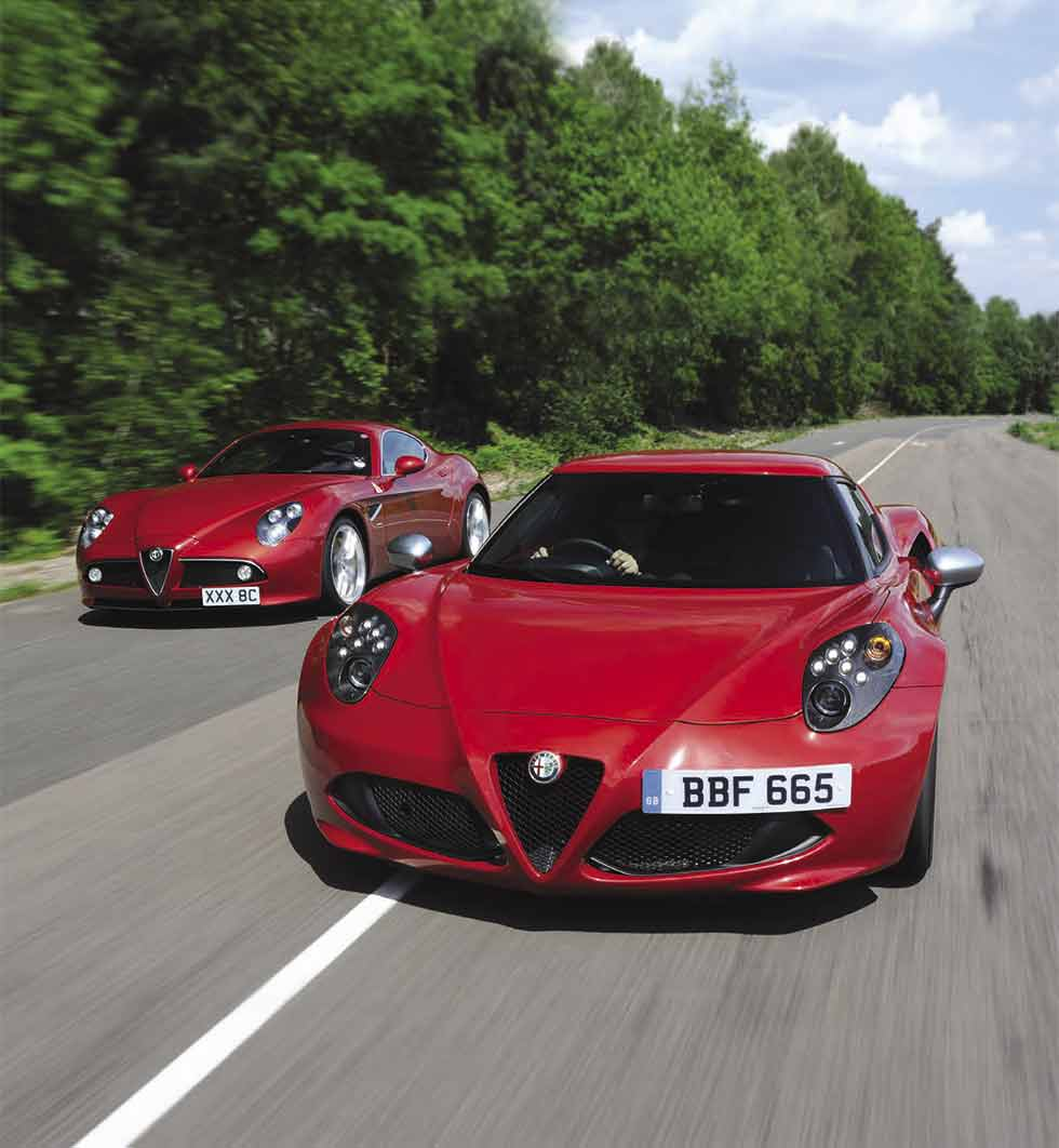 2014 Alfa Romeo 4C Type 960 vs. 2007 Alfa Romeo 8C Competizione - comparison road test