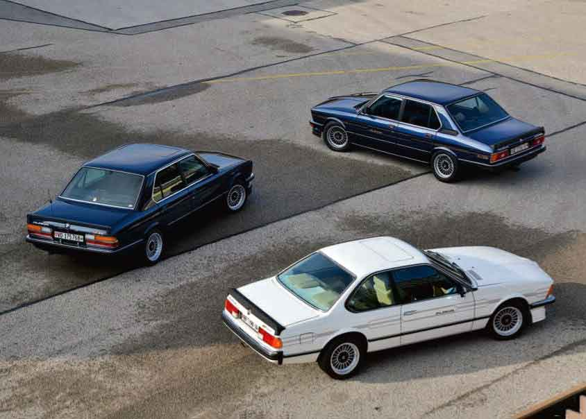 1982 BMW Alpina B7 S Turbo E12, 1982 BMW Alpina B7 Turbo Coupé E24 and 1983 BMW Alpina B9 3.5 E28