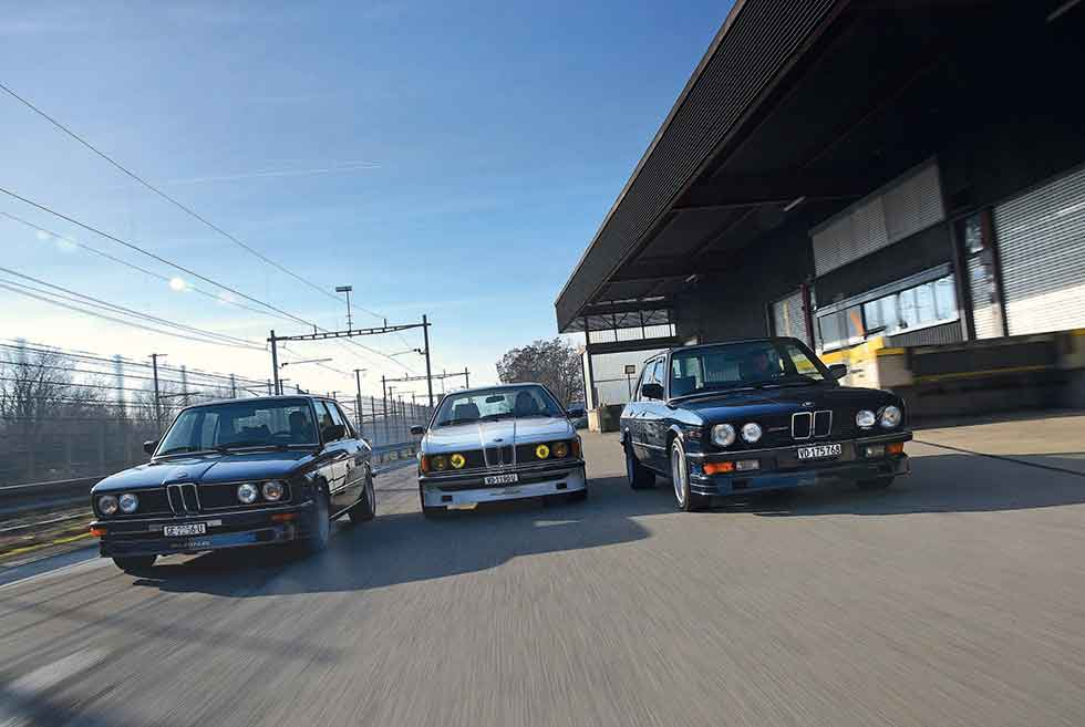 Three Alpinas, E12, E24 and E28, come together to trace the evolution of BMW's tuning powerhouse