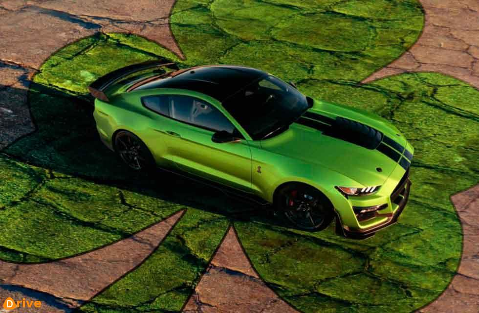 Ford unveils Grabber Lime Mustang on St Patrick's Day