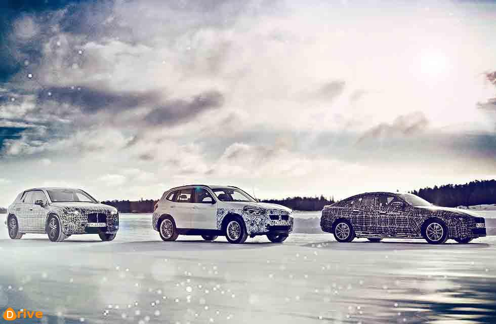 Winter testing the BMW iX3, i4 and iNEXT