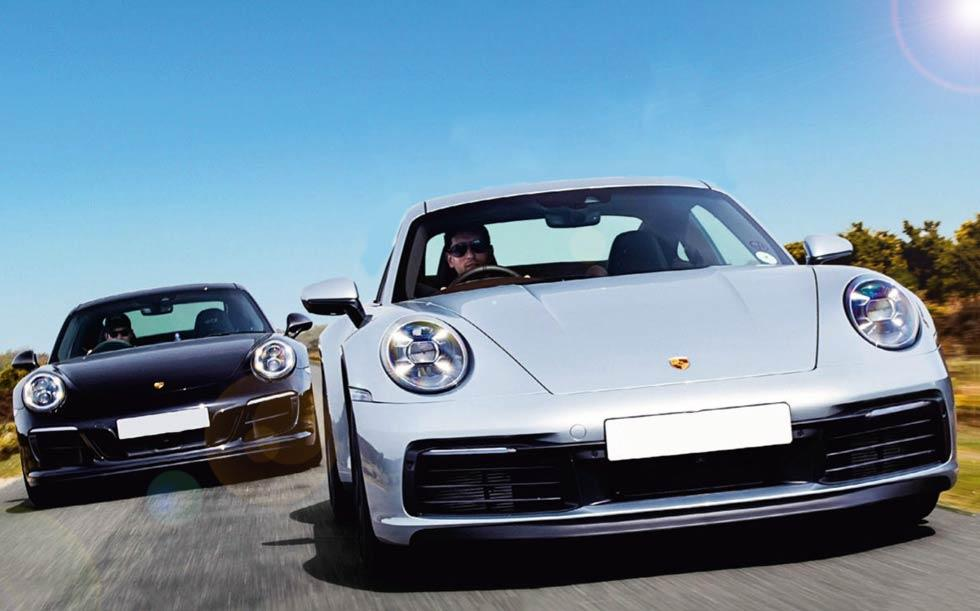 2020 Porsche 911 Carrera 4S 992 vs. 2019 Porsche 911 Carrera 4 GTS 991.2 - comparison road test