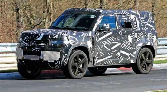 Spy Shots Land-Rover Defender