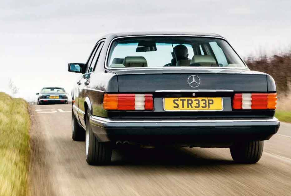 W126-S-Class vs. XJ40 Sovereign for pride of the executive class