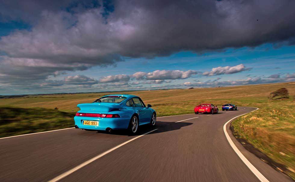 1996 Ferrari F355 GTS vs. 1996 Lotus Esprit V8 Turbo and 1995 Porsche 911 Turbo 993