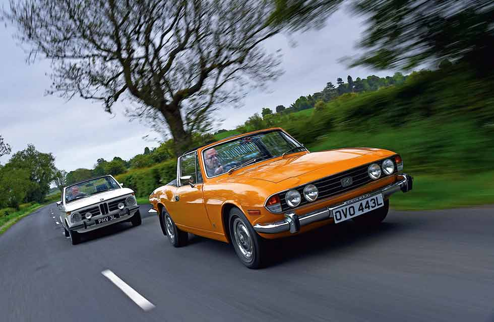 BMW 2002 Cabriolet and Triumph Stag