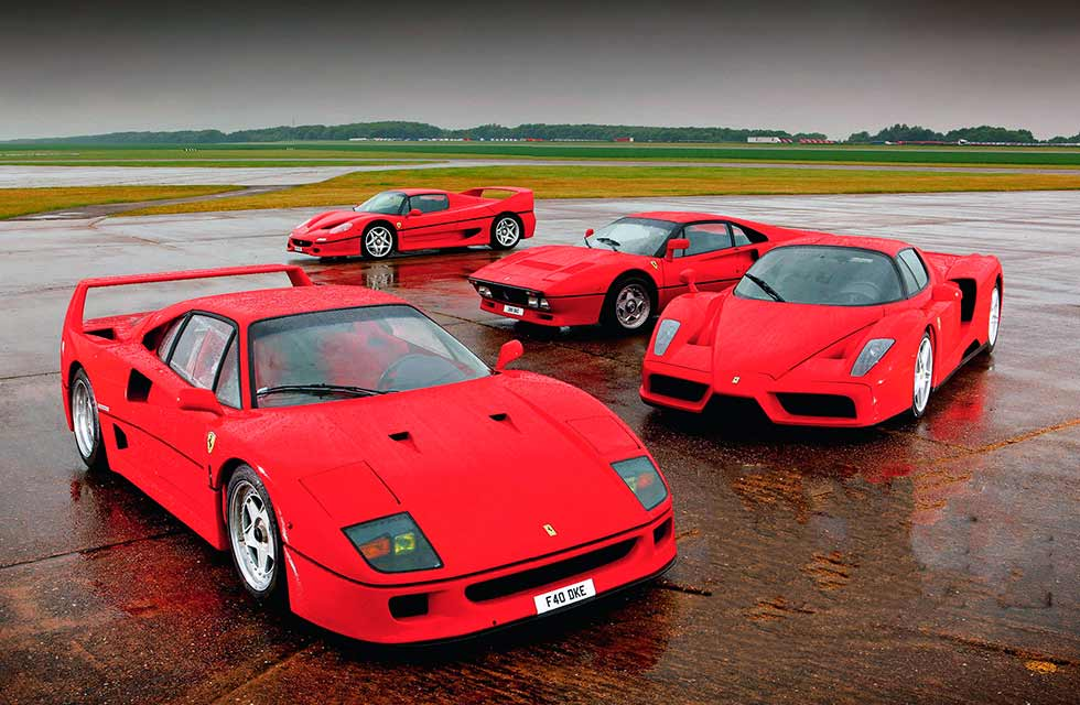 Ferrari 288 vs. F40, F50 and Enzo