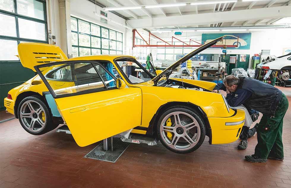 Technicians at RUF Automobile