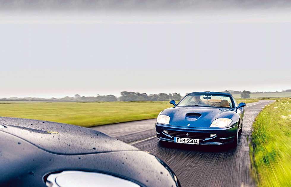 Aston Martin Vanquish S vs. Ferrari 550 Maranello Type F133