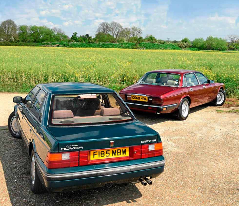 Twin test XJ40 vs. Rover 800