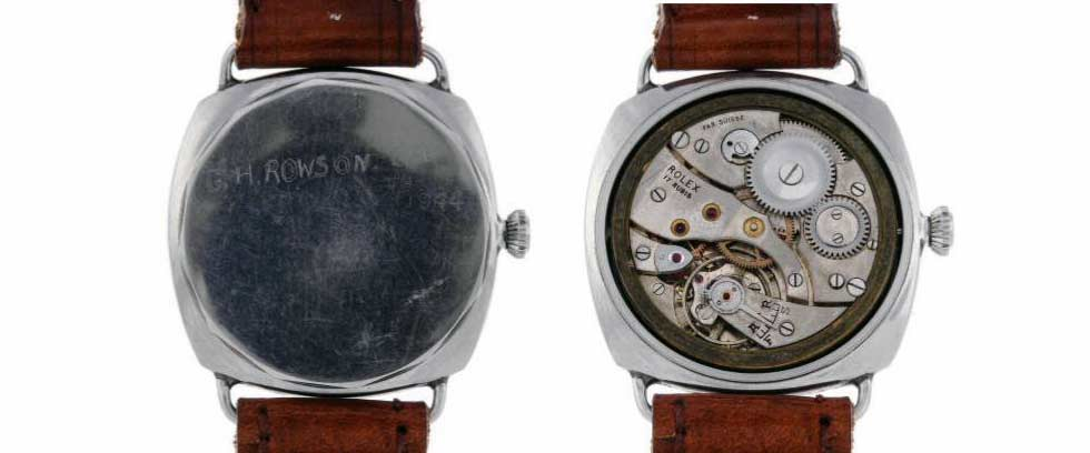 This Panerai Italian Second World War military diver watch is estimated at £30,000-40,000 in the Fellows January 30 Watch Sale.