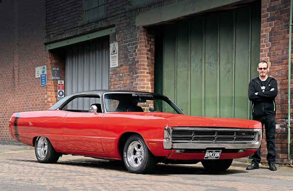 Big red 1971 Plymouth Fury Sport