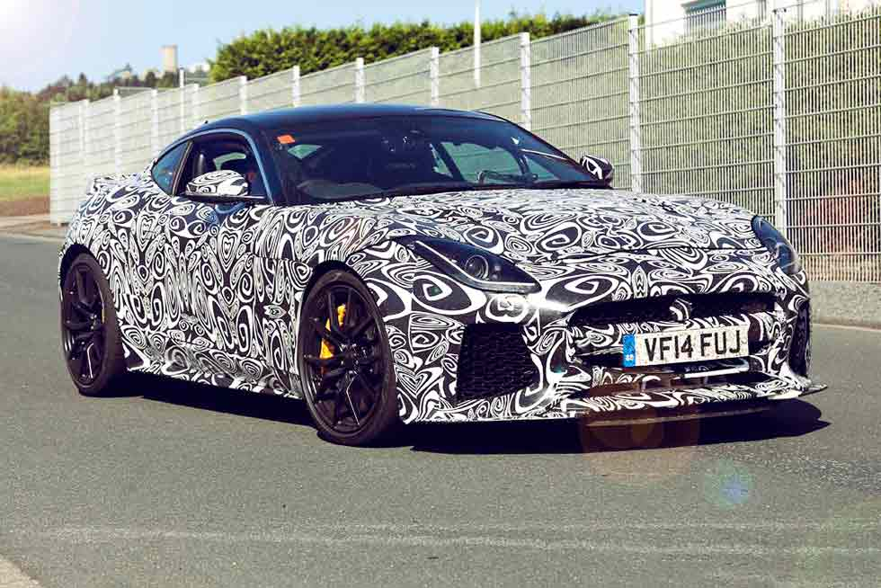 Jaguar F-Type SVR Spy Shots Up Close