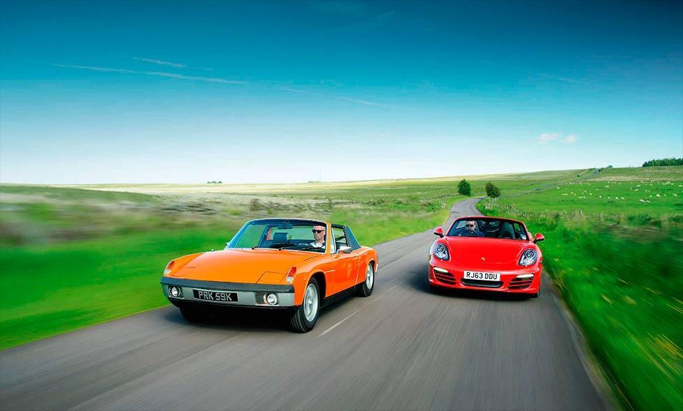 1972 Porsche 914 1.7 vs. 2014 Porsche Boxster 2.7 981 - comparison road test