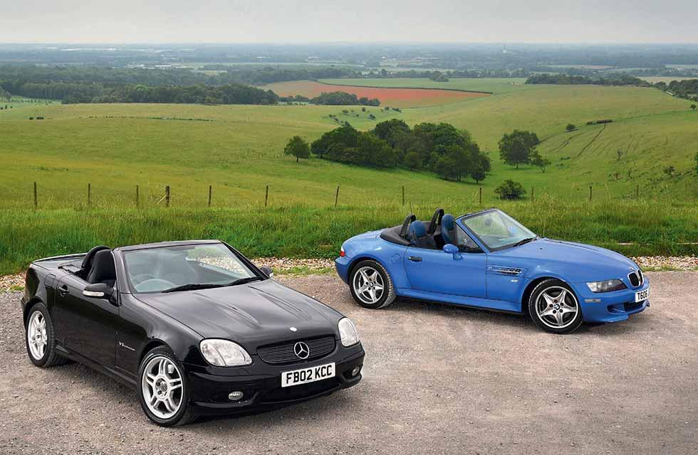 2001 Mercedes-Benz SLK32 AMG R170 vs. 1998 BMW Z3 M Roadster E36/7 - comparison road test