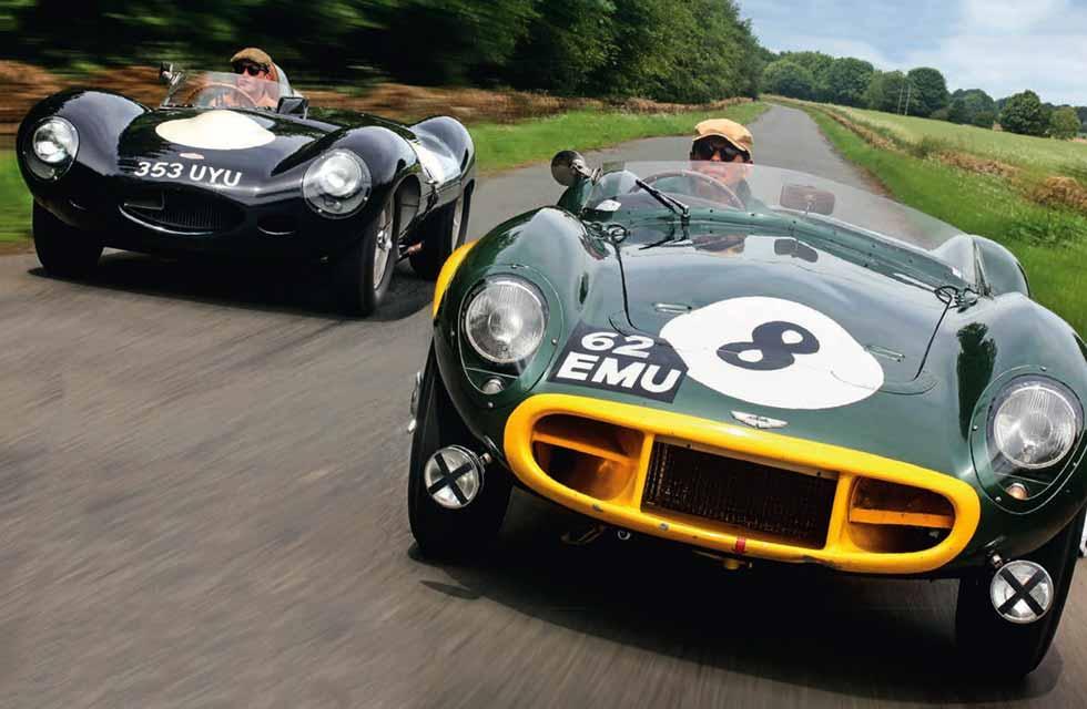 Aston DB3S vs Jaguar D-Type