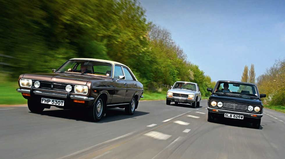 Peugeot 504, the Fiat 132 and the Chrysler 2 Litre