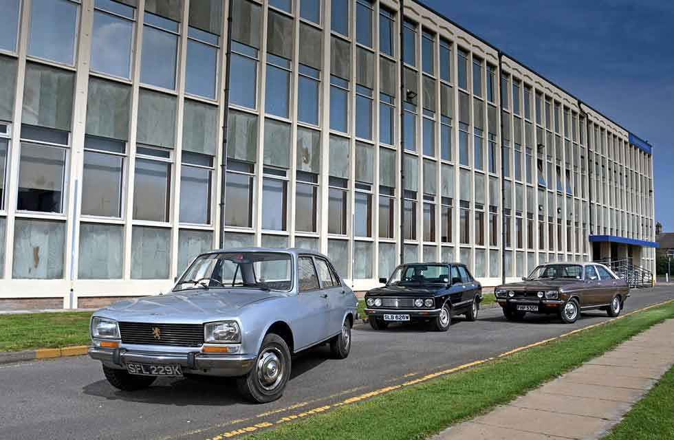 Peugeot 504GL vs. Fiat 132 Bellini and Chrysler 2 Litre