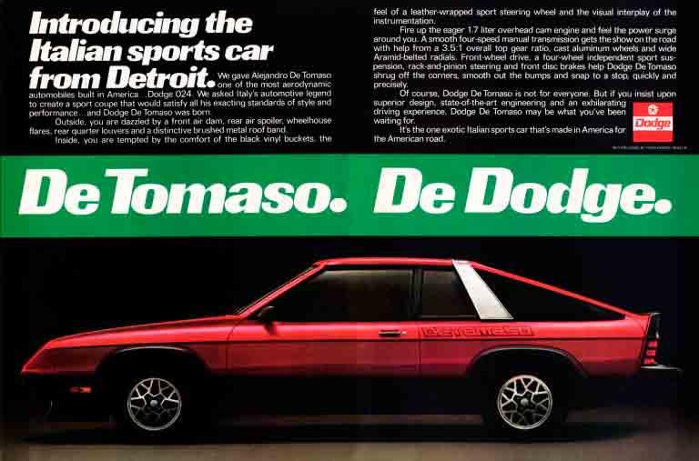 1980-1981 Dodge Omni 024 De Tomaso