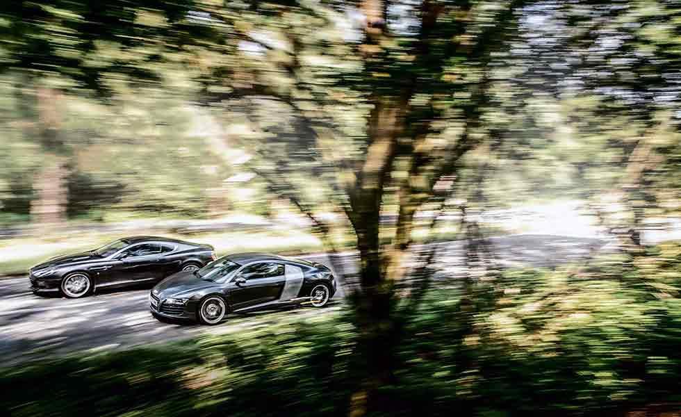 2006 Aston Martin DB9 vs. 2007 Audi R8 Typ 42