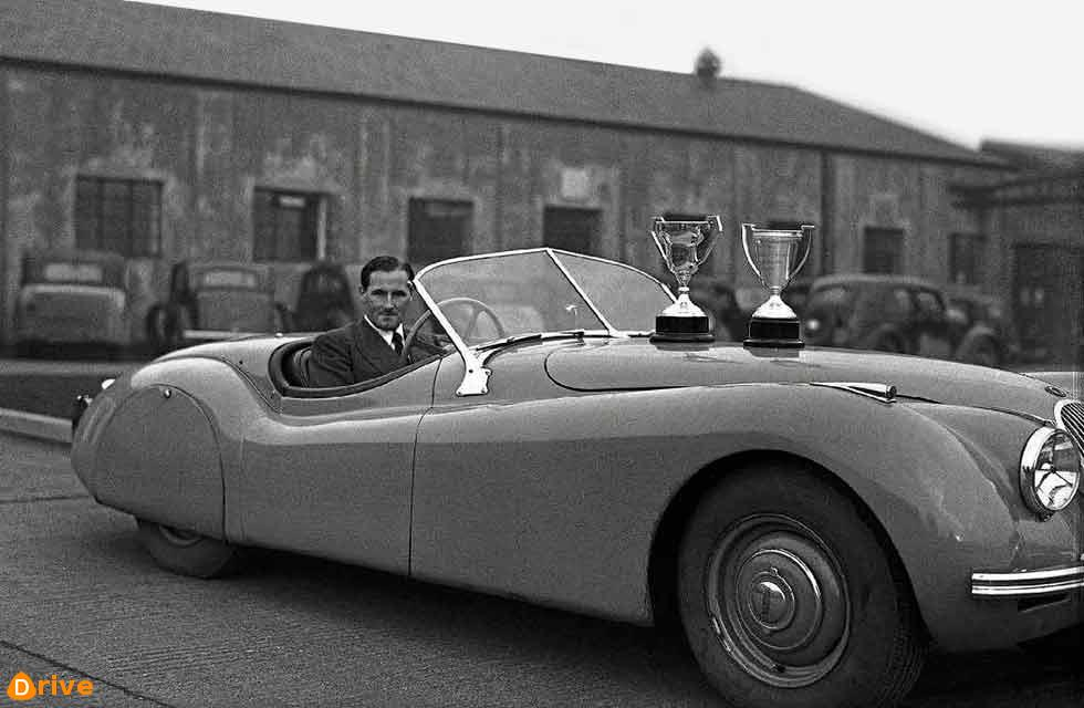 Jaguar XK 120's first North American race, Florida, 1950