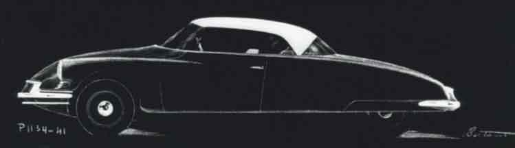 Bertoni proposal for a DS coupé dates from 1954