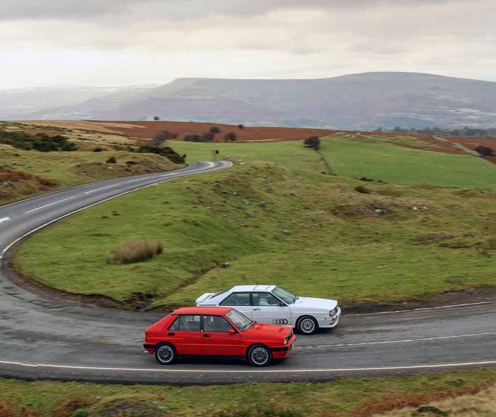 1987 Lancia Delta HF Integrale 8V vs. 1980 Audi Quattro 10V - comparison retro road-test
