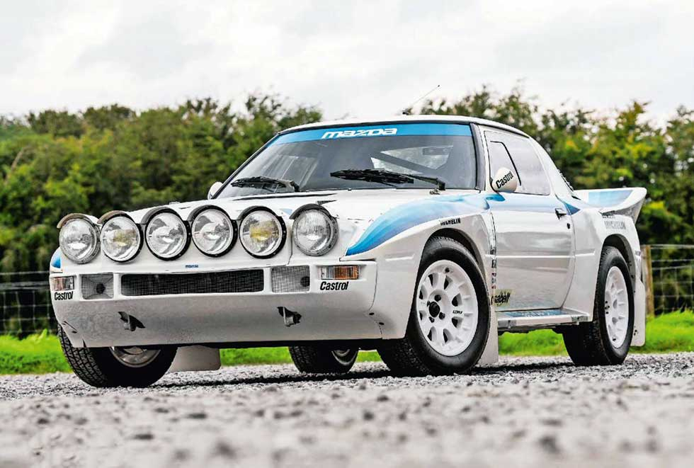 1985 Mazda RX-7 Evolution Group B rally car