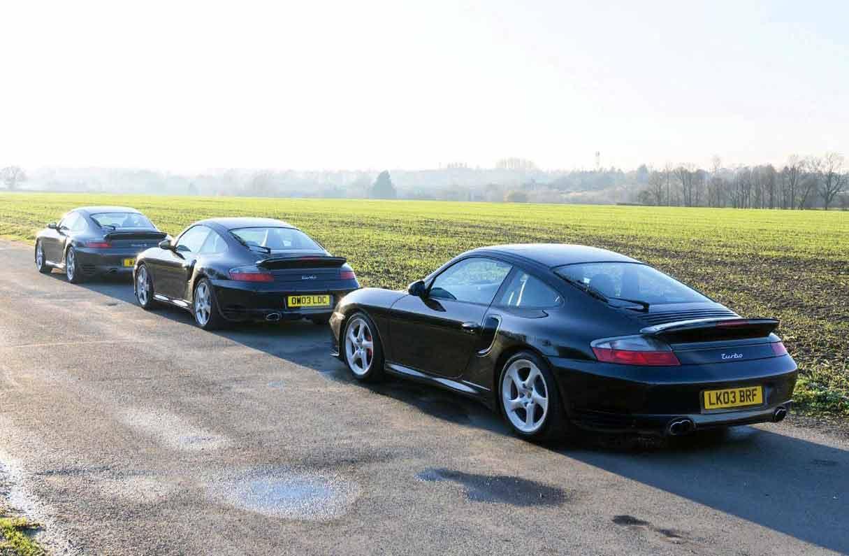 2000 Porsche 911 Turbo 996 vs. 2002 911 Turbo X50 996 and 2005 911 Turbo S 996 - comparison road test