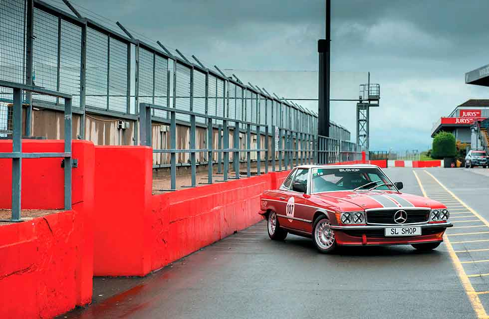 1978 Mercedes-Benz 450SL R107 Track Car - test drive