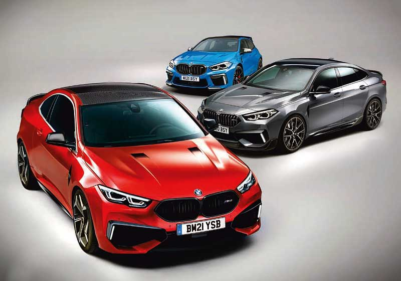 BMW M2 Coupé, followed by Gran Coupé, M 1 Series
