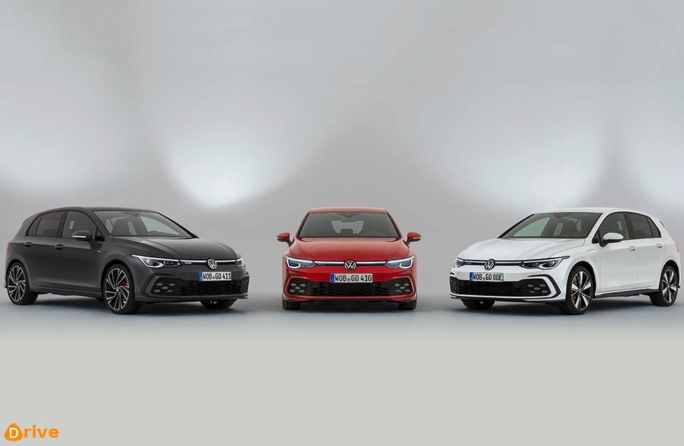 VW spawns sporty Golf triplets