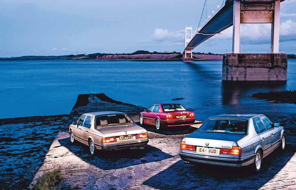 1982 BMW 728i Automaic E23 vs. 1987 BMW 730i E32 and 1998 BMW 740iA Sport E38