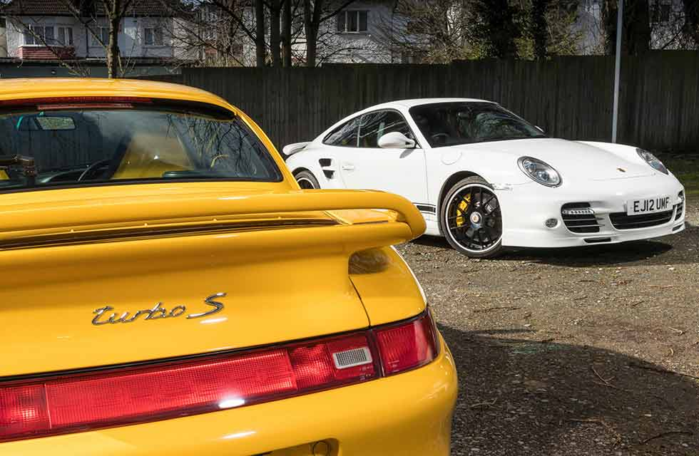 2012 Porsche 911 Turbo 997 vs. 1998 Porsche 911 Turbo S 993