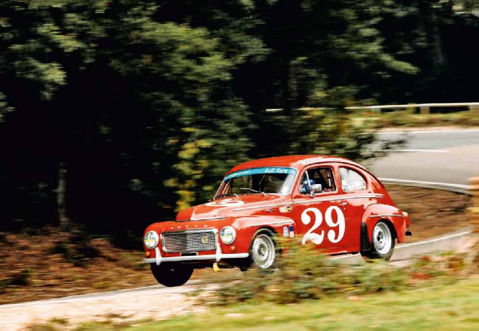 Tearing up tarmac in a 225bhp 1958 Volvo PV544 Racer