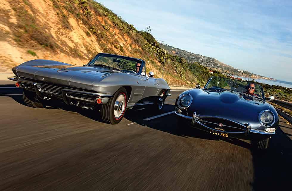 Transatlantic Tussle E-Type vs. Corvette - Jaguar takes on Chevrolet in our transatlantic shootout