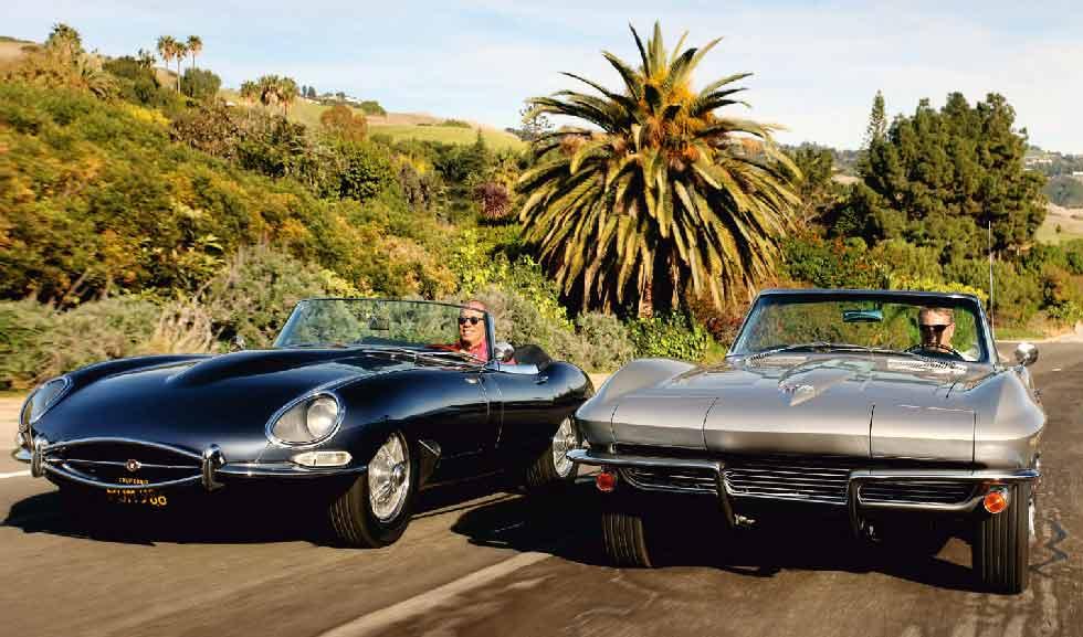 1963 Chevrolet Corvette Sting Ray C2 vs. 1961 Jaguar E-Type 3.8 S1 - comparison road test