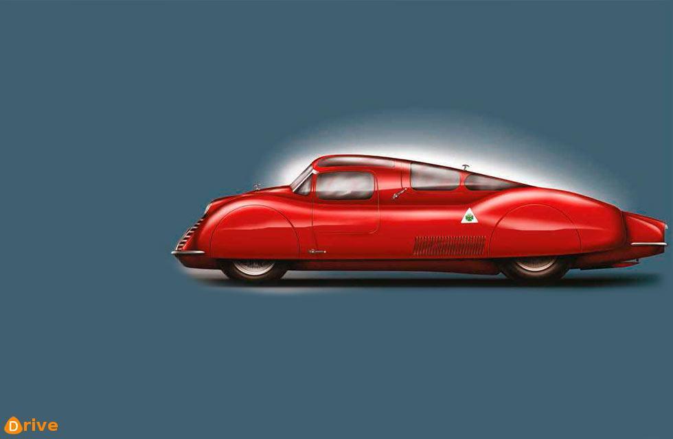 New image of stillborn 1941 Alfa-Romeo Tipo 163 V16 Racer  / David Rodríguez Sánchez