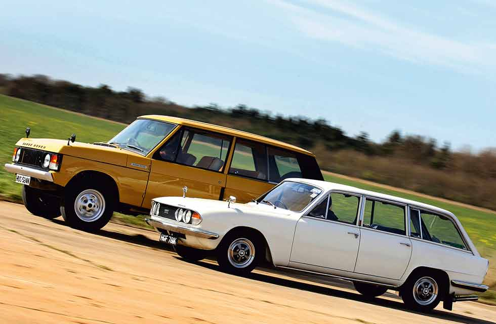 1969 Triumph 2.5 PI Estate vs.1970 Range Rover 3.5 V8 - comparison retro road test