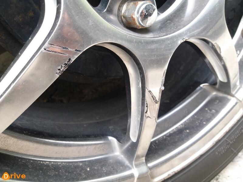 Damaged wheel