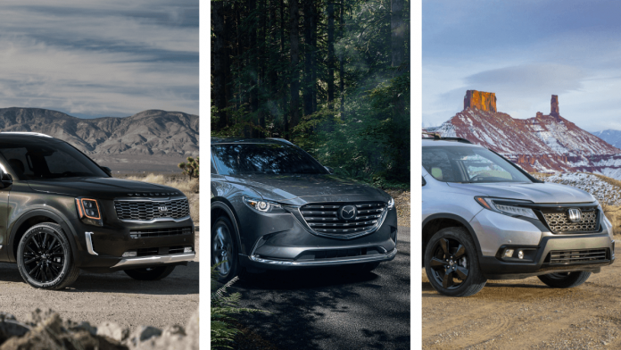 Kia Telluride vs. Honda Passport vs. Mazda CX-9